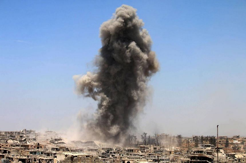 More than 100 people were killed due to air strikes in al-Mayadin, Syria.
