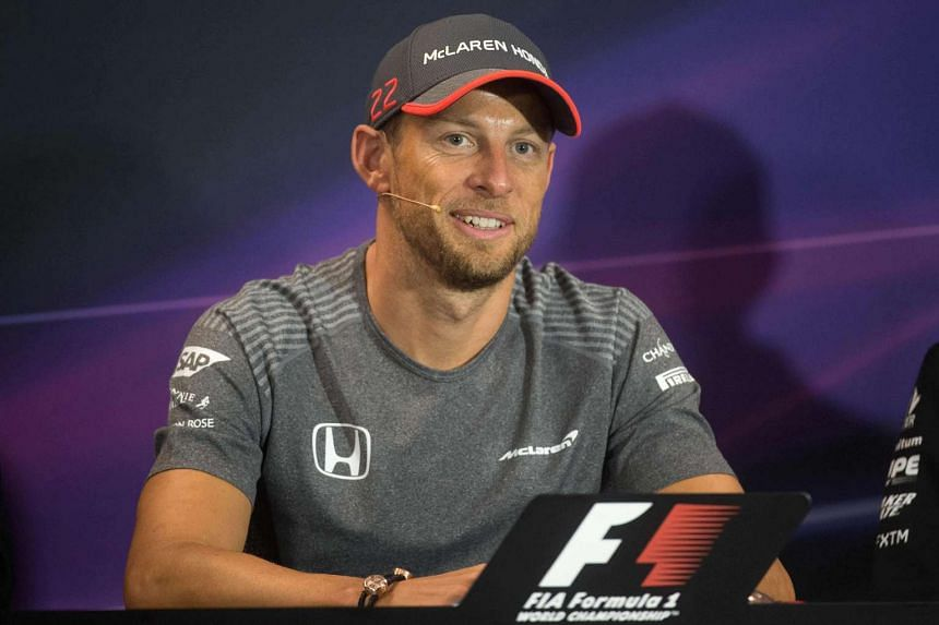 Britain's Jenson Button of McLaren Honda takes part in the drivers' press conference at the Monaco street circuit in Monte-Carlo, on May 24, 2017.