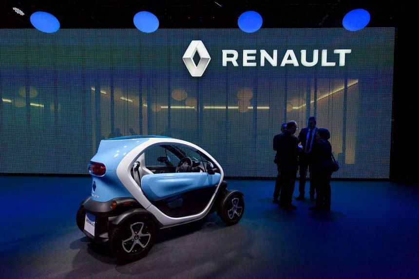 A Renault Twizy electric car on display at the Geneva International Motor Show in March.