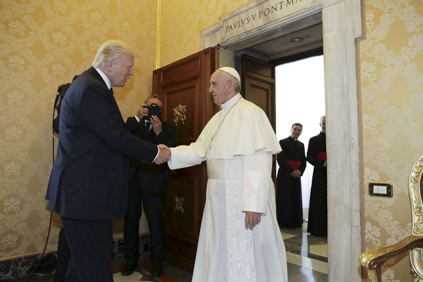 Foreign and religious leaders are imploring Mr Donald Trump to honour the Paris commitment, including the Pope.