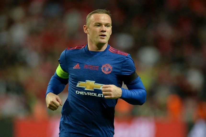 Rooney during the Europa League match between Ajax Amsterdam and Manchester United.