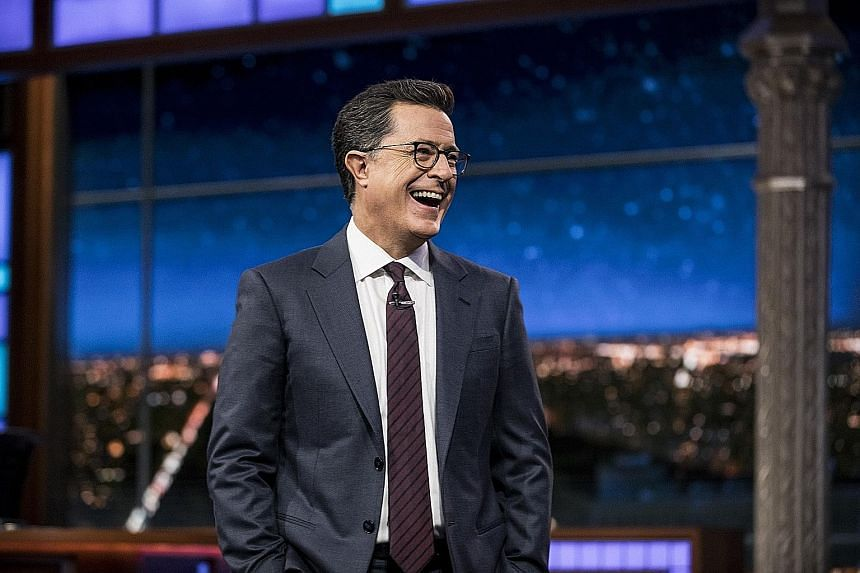 Talk-show host Stephen Colbert has seen his viewership numbers jump 18 per cent, thanks to delayed viewing.