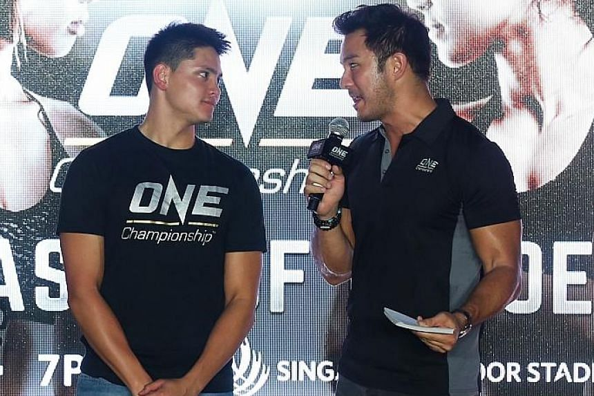 Joseph Schooling at a media session yesterday. The swimmer said he is aware that he will face stiff competition from Japan's Masato Sakai and Chad le Clos of South Africa at the Budapest meet.