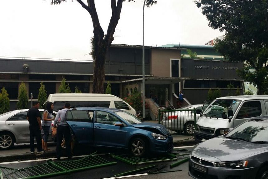 An accident at Balestier Road in front of Singapore Indian Association on Friday, May 26 2017
