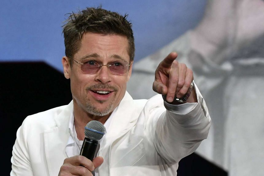 Brad Pitt at the Japanese premiere of War Machine in Tokyo on Tuesday.