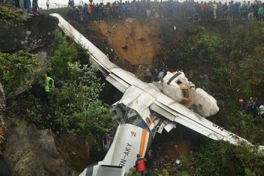Summit Air crashes at Lukla Airport, killing the captain and injuring two other crew members.