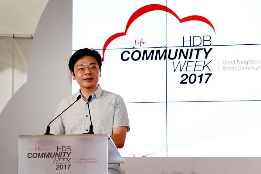 The launch of the HDB Community Week at Punggol Town Square by Mr Lawrence Wong, Minister for National Development and Second Minister for Finance.