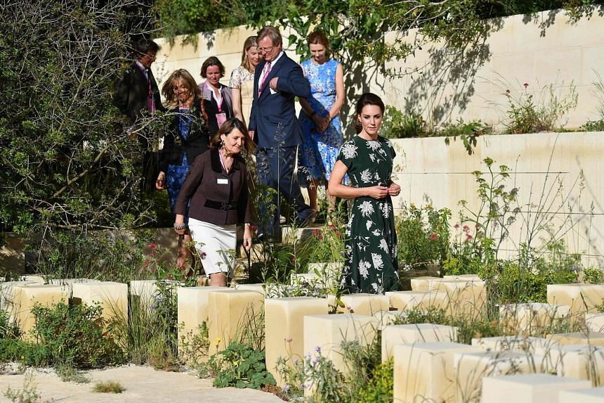 Visitors turned out in droves to view the lush show gardens at the Royal Chelsea Hospital grounds. The award-winning M&G Garden, which was visited by Duchess of Cambridge Catherine (right).