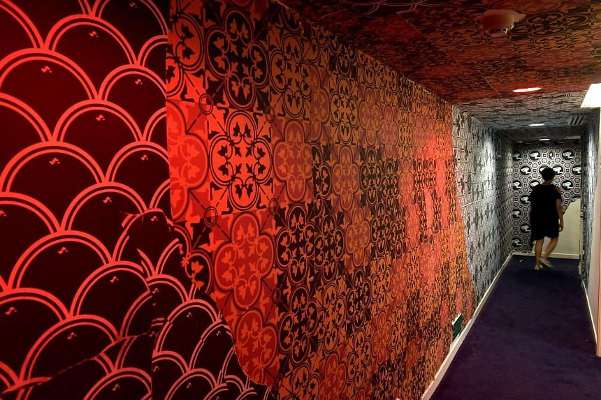 Among the art to check out at New Majestic Hotel is this installation by artist Sam Lo, better known as Sticker Lady.