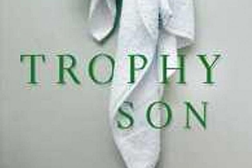 Trophy Son (above), in which a made-up character claims that tennis star Rafael Nadal (top) is among the players who use performance- enhancing drugs, is available for pre-order on the Books Kinokuniya website (kinokuniya. com.sg) for $43.02.