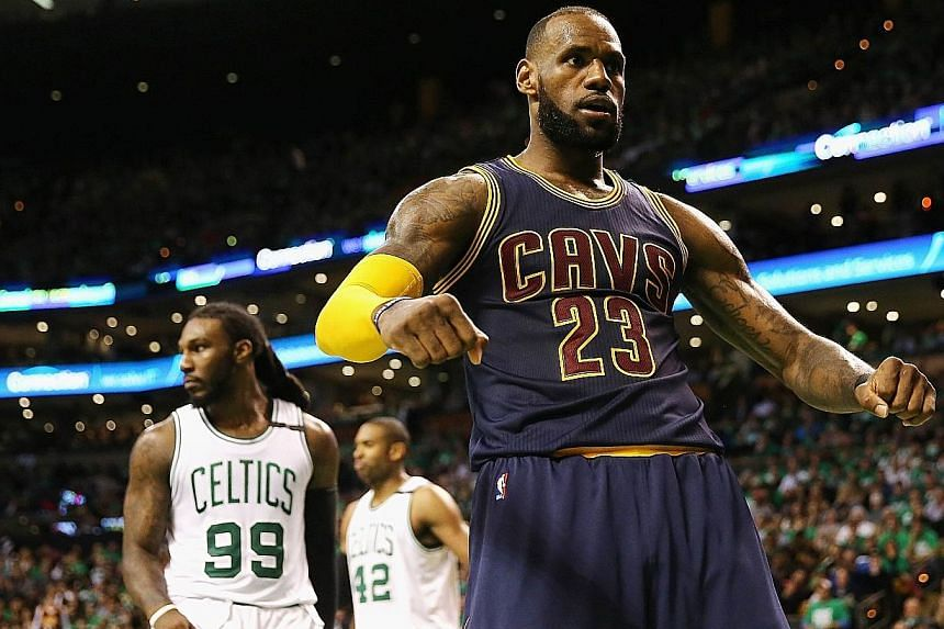 LeBron James, who scored 35 points in the Cavaliers' 135-102 defeat of the Boston Celtics in Game Five on Thursday, said his successful pursuit of Michael Jordan's record tally of play-off points was nothing more than a personal goal to keep himself