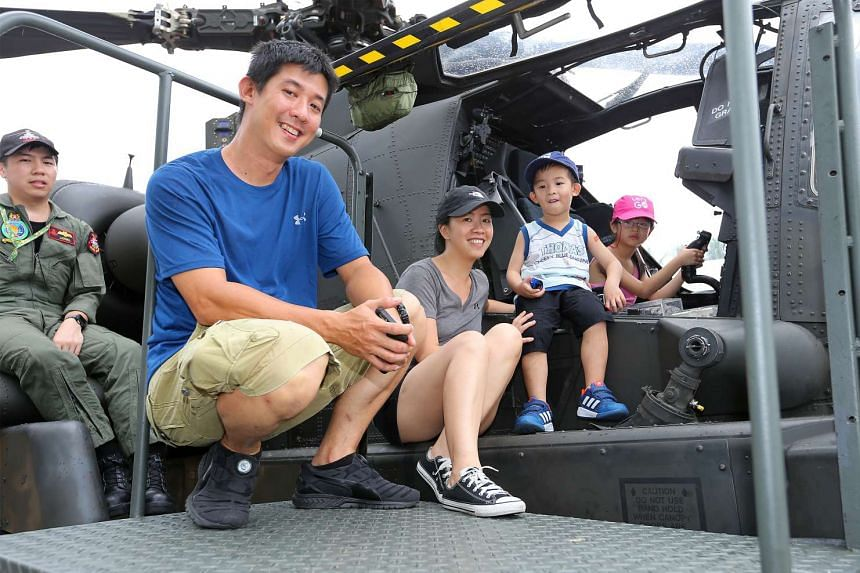 Andy Sutanto, 39, Oling Puspa, 39, Owen Patrick, 4, and Emily Eleanor,6, at the Army Open House 2017.