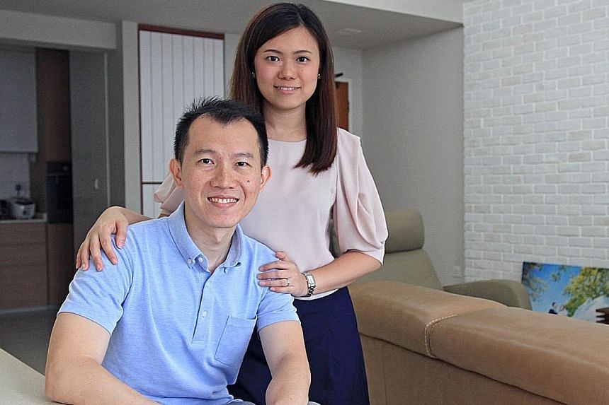 Mr Thomas Zhuo and Ms Jasmine Ong, both 31, started putting aside more than half of their take-home pay when they were 23 so they could get their own home by the age of 27.