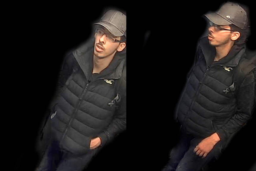 Salman Abedi in CCTV images on the night he massacred 22 people at a pop concert.
