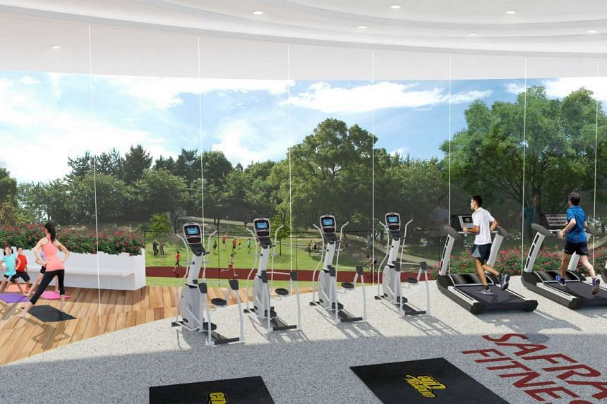 A concept impression of the EnergyOne gym at the new Choa Chu Kang Safra clubhouse.