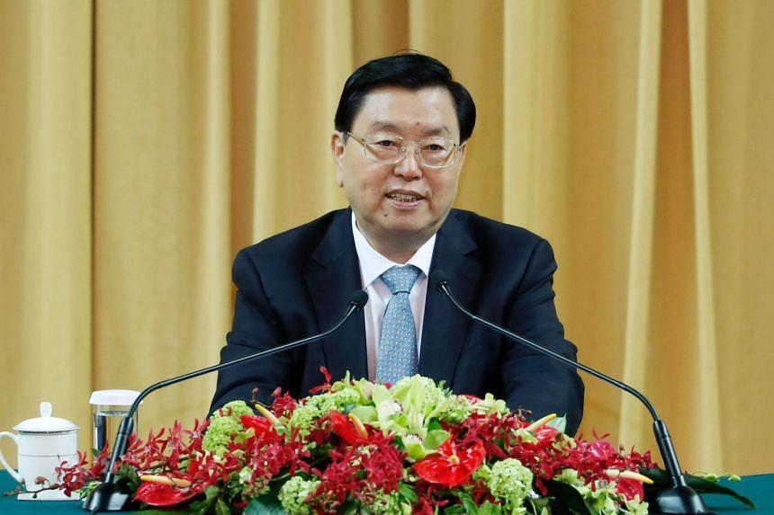 Mr Zhang Dejiang, China's No. 3 official who oversees Hong Kong affairs.