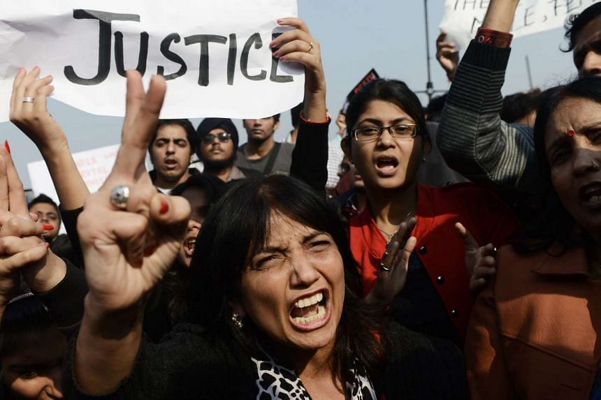 Indian demonstrators rallying for greater safety for women in 2012. India has a poor record of rape and sexual assault, and rights groups have accused the authorities of failing to bring offenders to justice swiftly.
