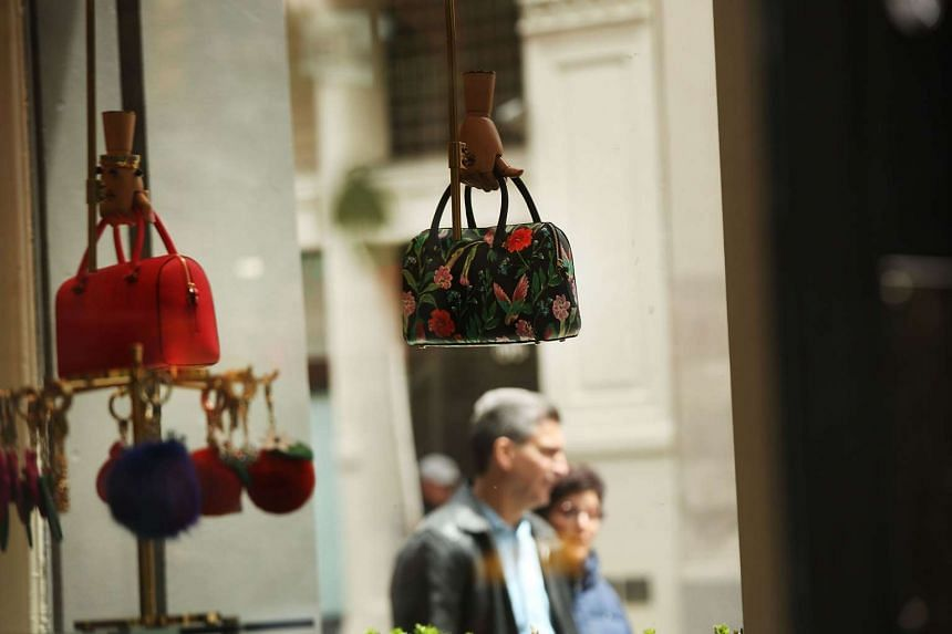 A Kate Spade store stands in the SoHo neighborhood of Manhattan on May 8, 2017 in New York City.