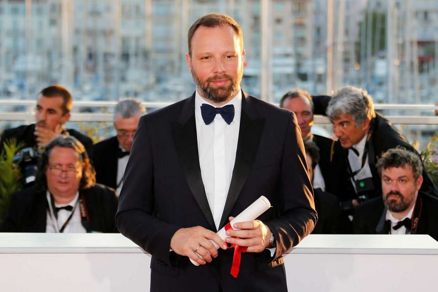 Director Yorgos Lanthimos  at the closing ceremony of the 70th edition of the Cannes Film Festival in Cannes, southern France on May 28, 2017.