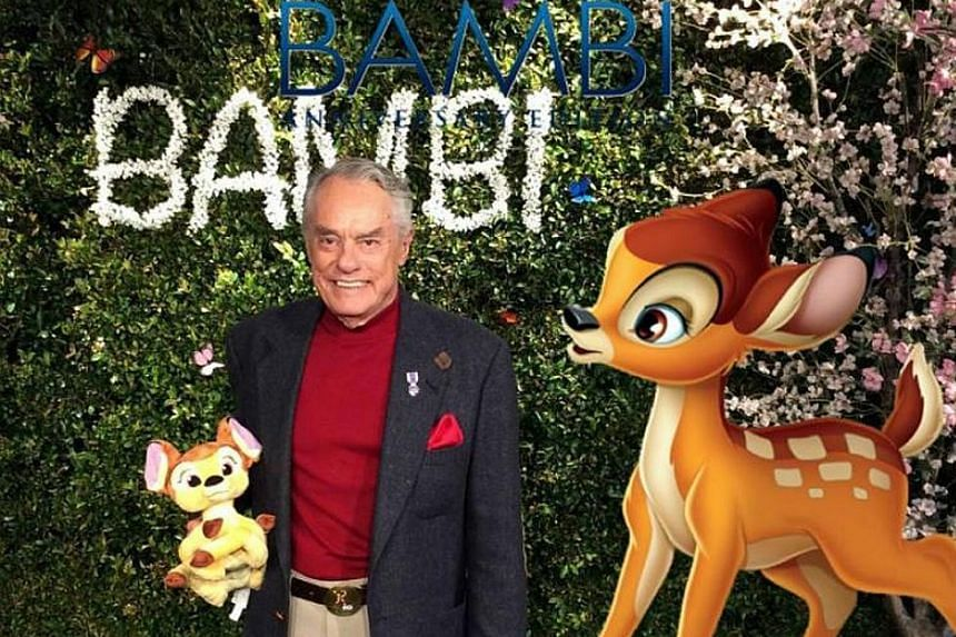 Actor Donnie Dunagan (above), who was the young voice of Bambi, at a 75th anniversary event of the film recently.