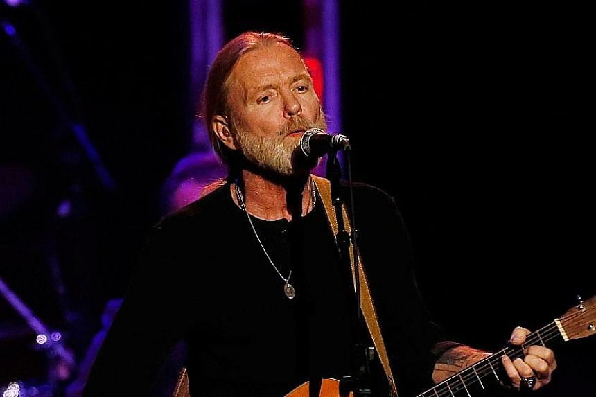In this 2012 photograph, Gregg Allman is seen performing at a charity event at the Izod Center in East Rutherford, New Jersey.