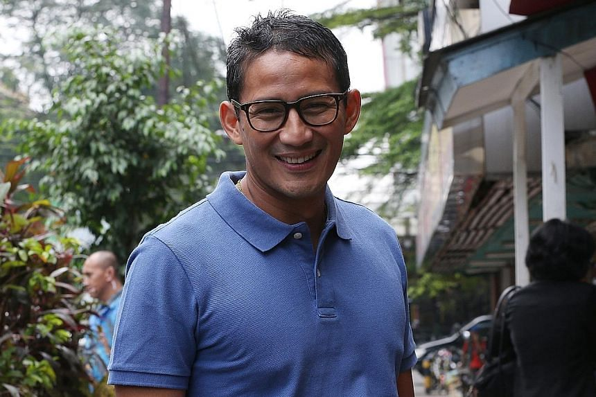 Mr Sandiaga Uno at his campaign headquarters in South Jakarta. When asked about the perceived rise of intolerance in Jakarta, in the light of the gubernatorial election, and how that may affect an outsider's view of the city, he says that the capital