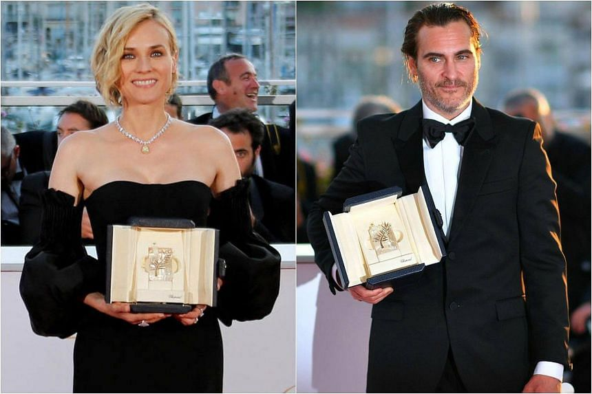 Diane Kruger won best actress in the Cannes film festival, and Joaquin Phoenix bagged the best actor accolade.