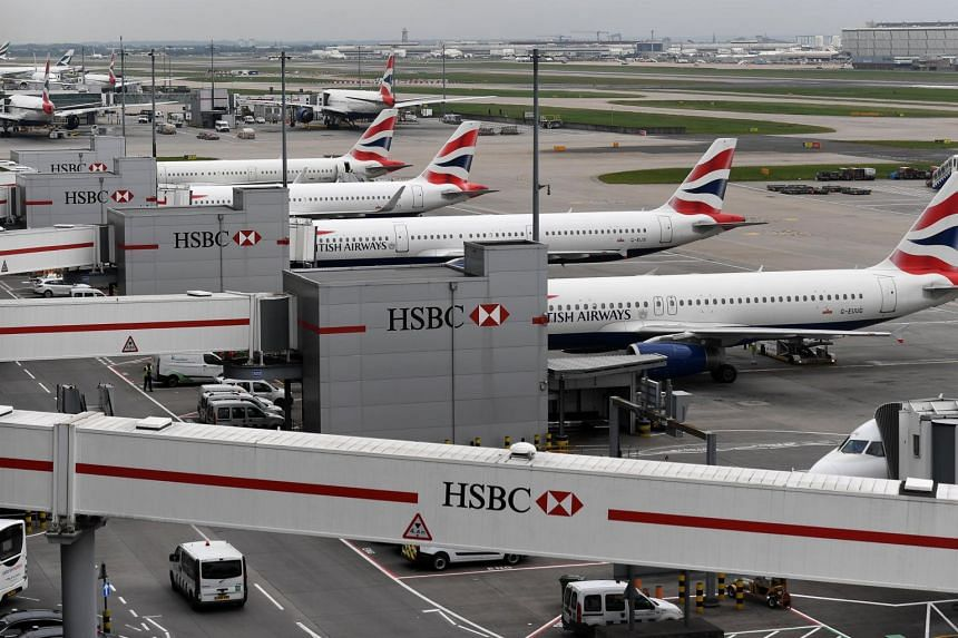British Airways aircraft stand on their parking positions at Heathrow Airport in London, Britain on May 29, 2017.