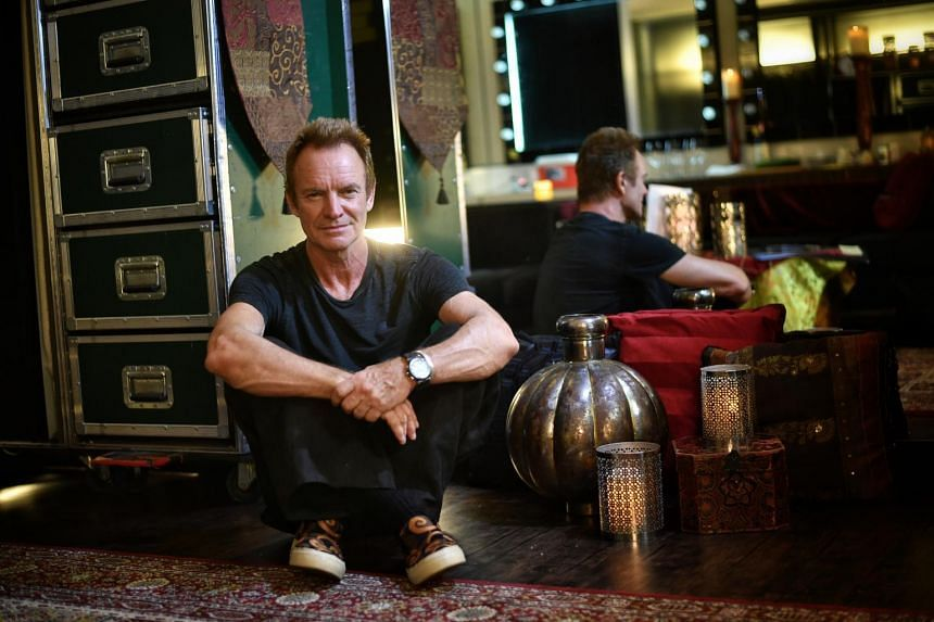 Interview with British rocker Sting before his 57th and 9th concert tour show.