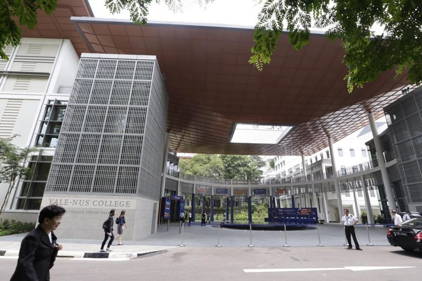 Part of the exterior of Yale-NUS campus which spreads over 64,000 sq m.