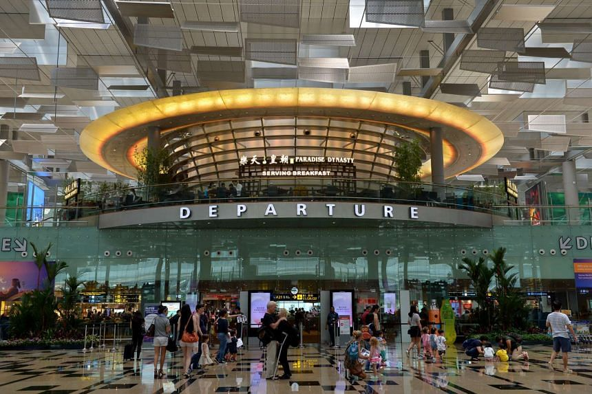 The departure hall at Changi Airport Terminal 3 on April 22, 2016.