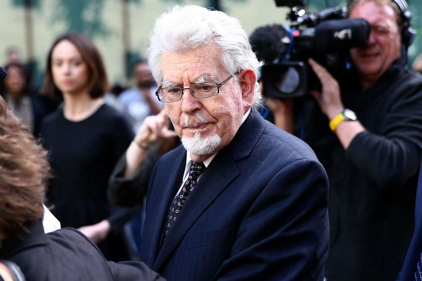 Entertainer Rolf Harris leaving Southwark Crown Court in London, on May 22, 2017.