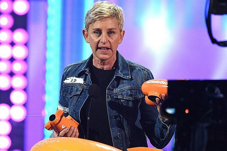 Hollywood comedienne Ellen DeGeneres is often goofing off and playing pranks on guests, including celebrities, on her popular TV talk show.