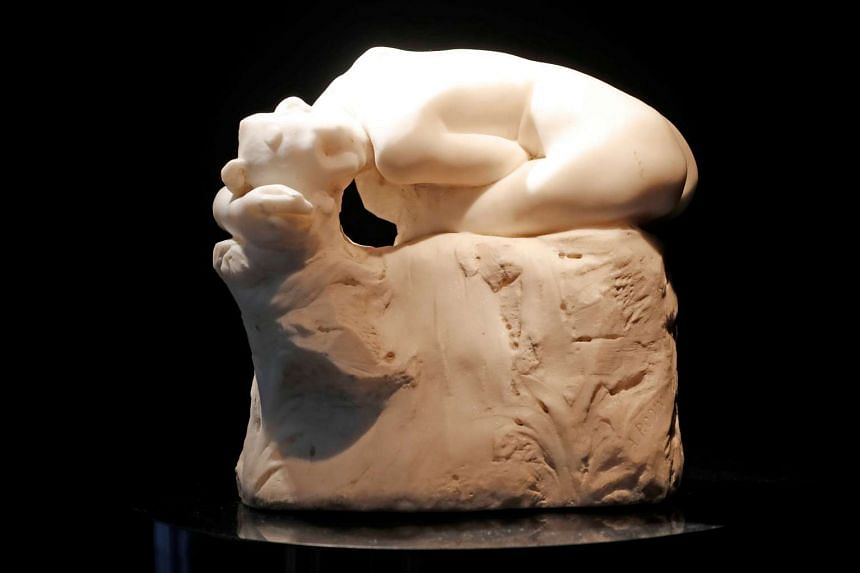 Andromede by French sculptor Auguste Rodin is displayed at the auction house in March 2017.