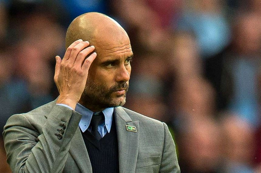 Guardiola's (above) first season with City was a damp squib.