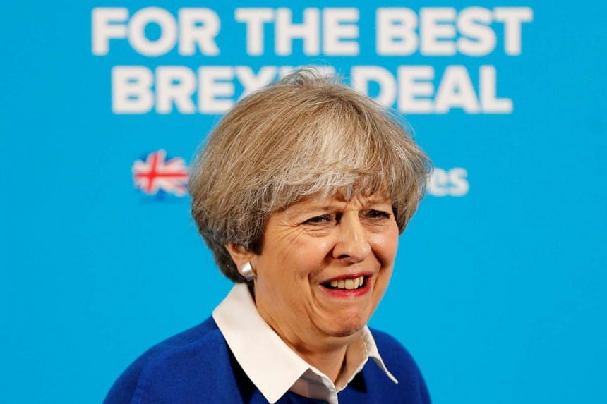 Britain's Prime Minister Theresa May attends an election campaign event in Wolverhampton, May 30, 2017.