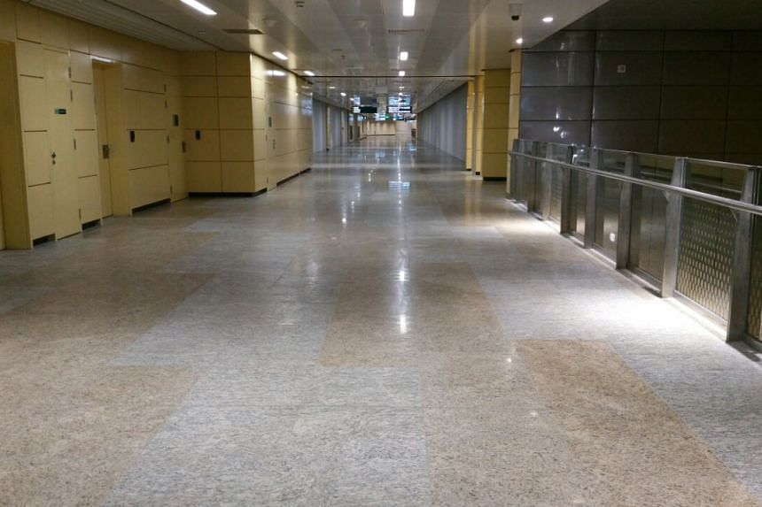 A concourse at Bencoolen station, where retail shops are expected to open.