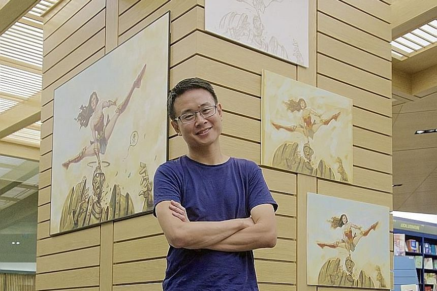 Artist Sonny Liew drew Wonder Woman as toned and svelte instead of with rippling muscles.