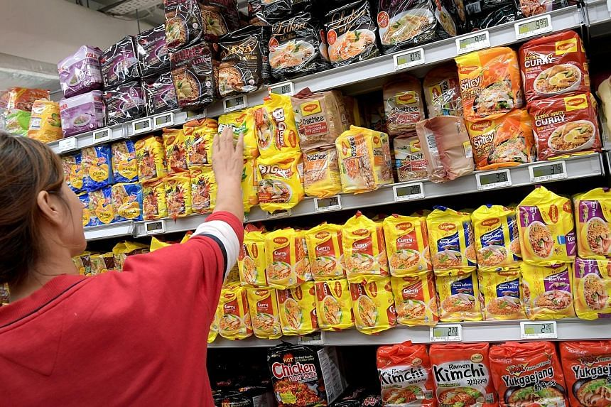 Nestle Singapore said it has been trying to reduce salt content since 2005. Its products include noodles, soups, seasonings and stock cubes.