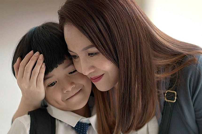 In Daniel Yam's short film, Time, Adele Wong plays a mother who realises that she should cherish the time with her son, played by Ryan Soo (both above), during his growing-up years.