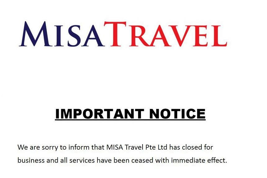 Local tour agency Misa Travel closed down after its travel agent was revoked by the Singapore Tourism Board.