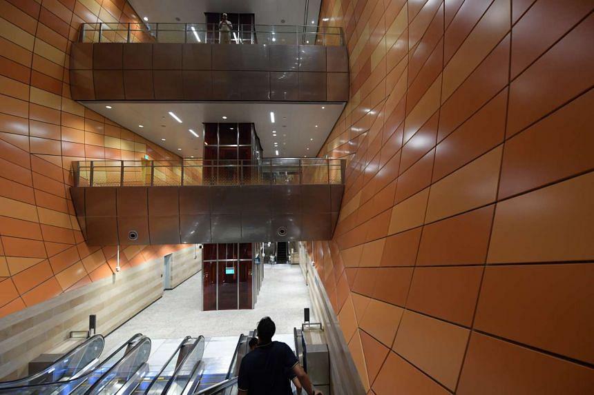 Singapore's deepest MRT Station, Bencoolen Station, is 43m below ground.