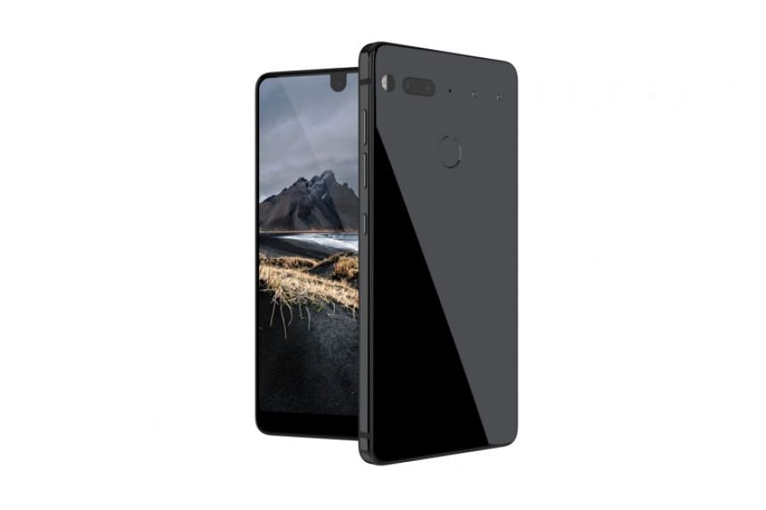 Essential's new phone will come in four colours, Black Moon (above), Stellar Grey, Pure White and Ocean Depths.