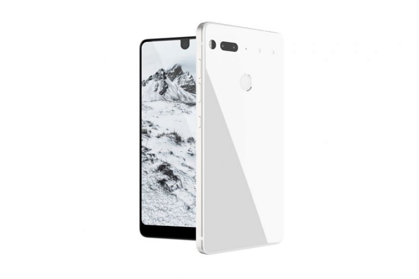 Essential's new phone will come in four colours, Black Moon, Stellar Grey, Pure White (above) and Ocean Depths.