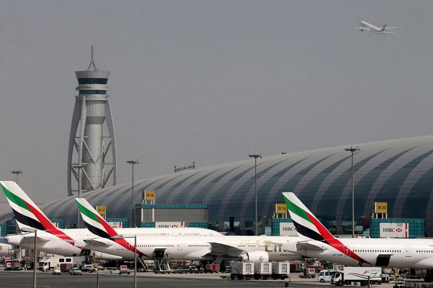 Emirates Airlines aircrafts are seen at Dubai International Airport.