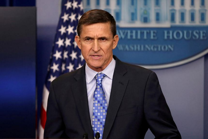 Then national security adviser General Michael Flynn delivers a statement daily briefing at the White House in Washington.