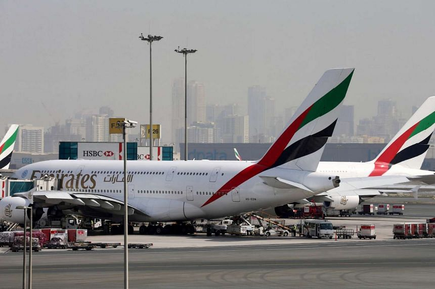 A file photo of Emirates aircraft at Dubai International Airport in the United Arab Emirates.