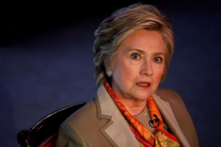Clinton (above) said fake stories on Facebook influenced the information that people relied on.