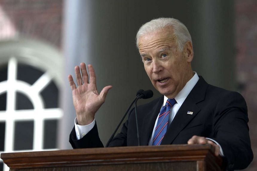 Former United States Vice-President Joe Biden delivers the Class Day address at Harvard University in Cambridge, Massachusetts on May 24.