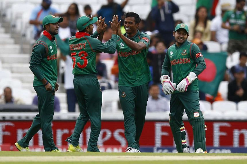 Bangladesh in an ICC Champions Trophy warm-up match against India on May 30. They will meet England today.